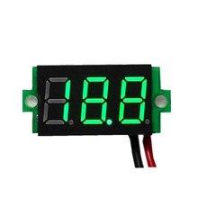 1 pièces voltmètre numérique LED affichage Mini 2/3 fils tension mètre ampèremètre haute précision rouge/vert/bleu DC 0V-30V 0.36
