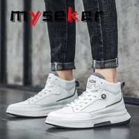 new fashion couple sports shoes walking casual shoes vulcanized shoes lightweight flat bottom boat shoes adult high top shoes