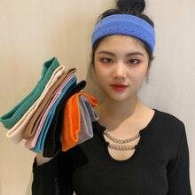 Women Sports Yoga Headband Breathable Knitted Sport Running Sweat-absorbent Headbands Hairband Headwear Headscarf