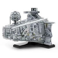 diy educational assembly toy model childrens birthday gift interstellar small particle building block moc empire star destroyer