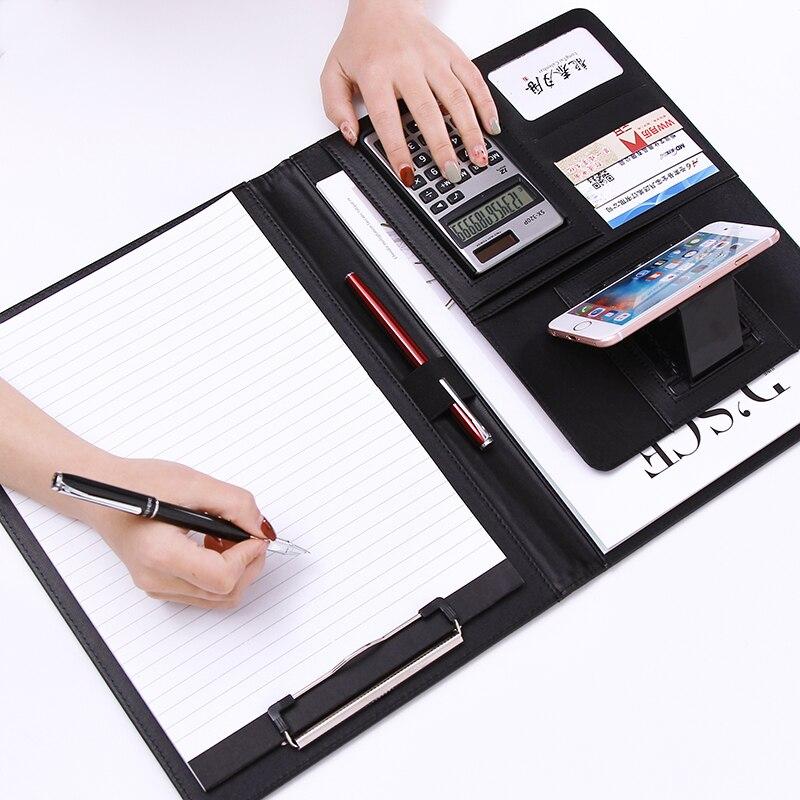 A4 из искусственной кожи многофункциональное портфель офисный деловой менеджер портфель Папка Держатель для документов