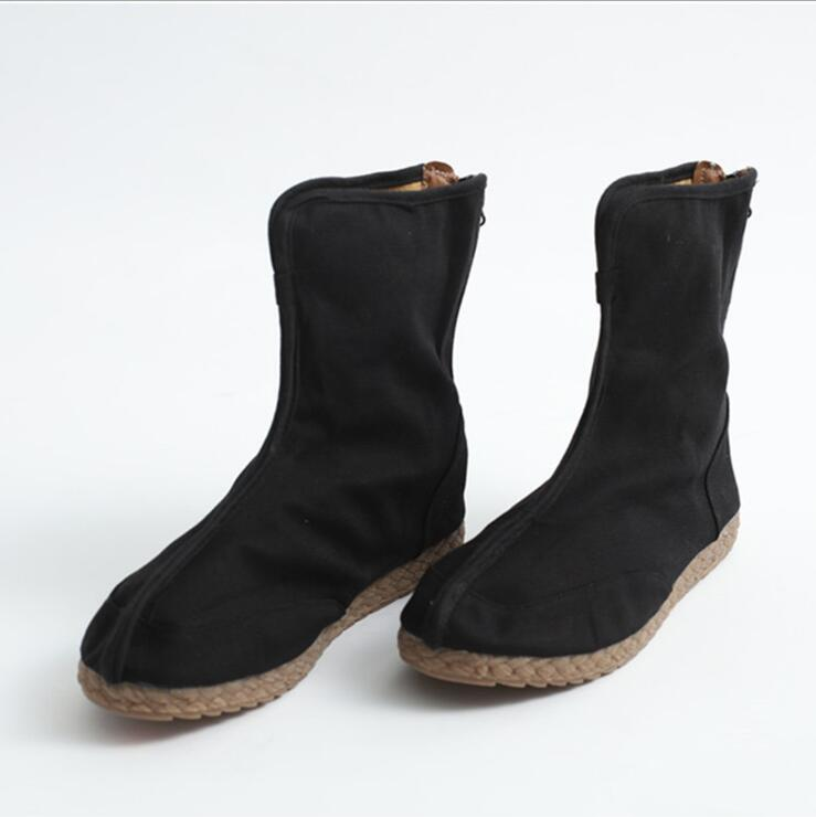 القطن القنب الرجال الأحذية واحدة قماش نسائي أحذية مريحة مسطحة القاع الترفيه القماش الأحذية الصين النمط الوطني للجنسين الأحذية