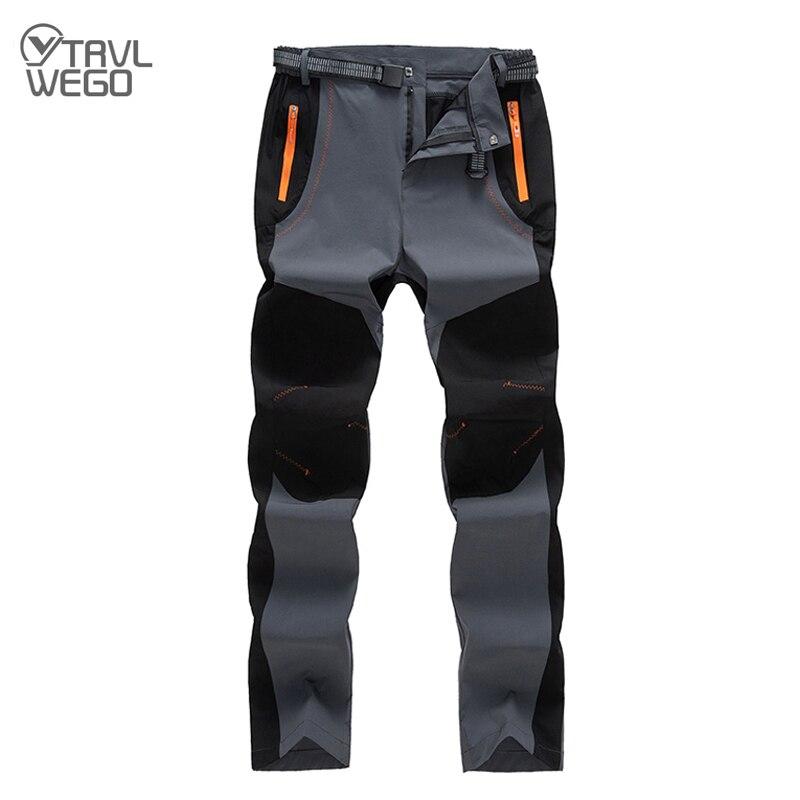 TRVLWEGO de los hombres al aire libre elasticidad pantalones secos rápidos de la luz Ultra-Senderismo escalada viajes de Camping a prueba de UV de caza, de Deporte Pantalones