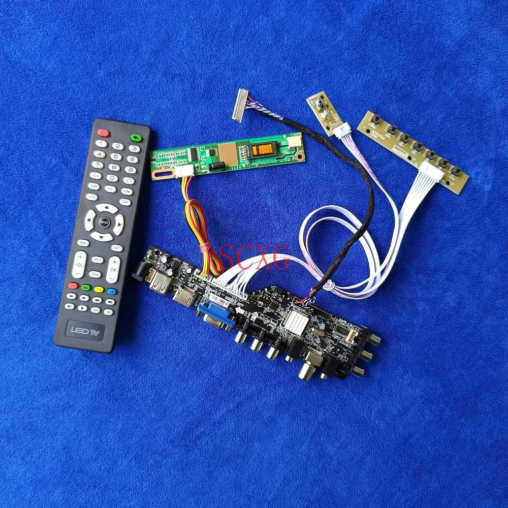 LVDS 30 دبوس عدة DVB إشارة رقمية 1-CCFL صالح LTN150PF/LTN150PG HDMI متوافق VGA AV USB LCD جهاز تحكم بالشاشة مجلس 1400*1050