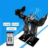 diy 6 dof biped walking humanoid robot servo bracket mechanical arm gaming educational