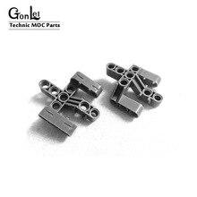 2 Teile/los Technik Strahl 5x5x2 Senkrecht Gabel 3 Finger MOC Bausteine Ziegel Teile DIY Spielzeug kompatibel mit 19086