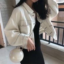 Jean Jacket Women Denim Jackets 2021 Autumn Single-breasted Short Casual Streetwear New Korean Style