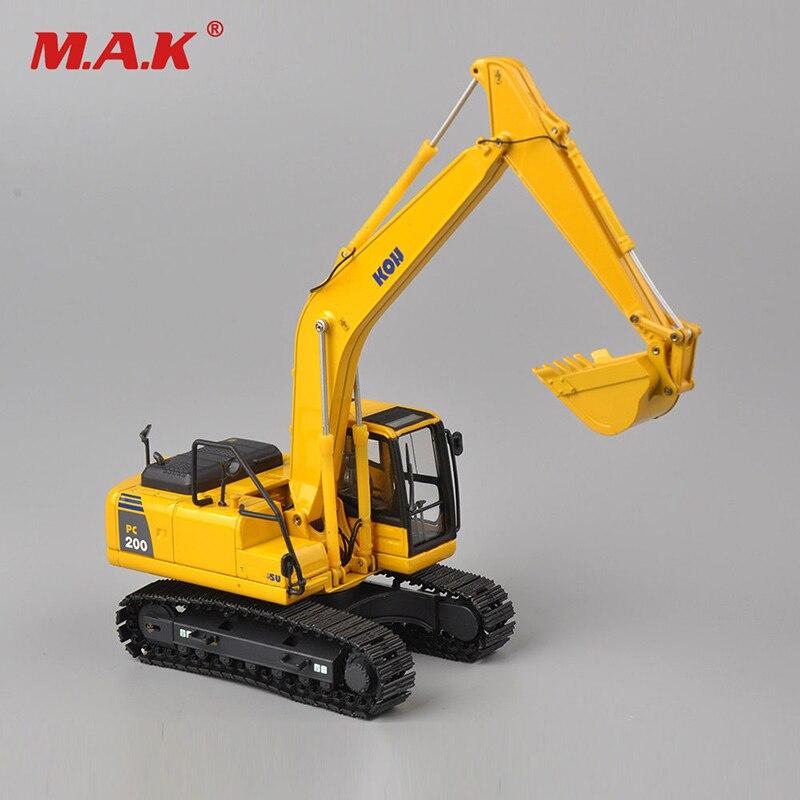 Diecast KOMATSU 150 escala PC200 excavadora camión auto vehículo modelo juguete aleación Diecast modelo ingeniería máquina para colección