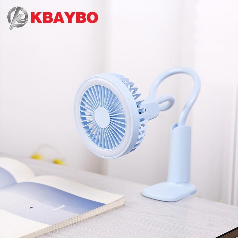 Портативный usb-вентилятор, гибкий светодиодный светильник, 2 скорости, регулируемый кулер, мини-вентилятор, удобный маленький настольный USB вентилятор охлаждения для детей