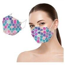 1/5/10pc Elegant Dress Masks For Women Face Teenagers Cute Print Design Adjust Nose Mouth Cover Masq