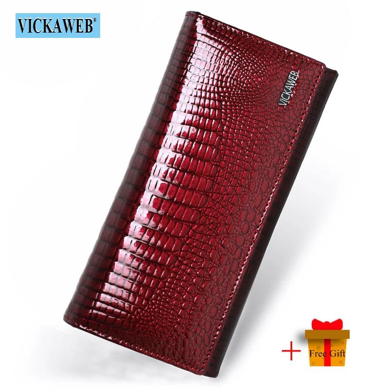 شحن هدية جلد طبيعي المرأة محافظ طويل السيدات مزدوجة سستة المحفظة مخلب المال حقيبة تصميم محفظة المحافظ الأزياء VK-AE501