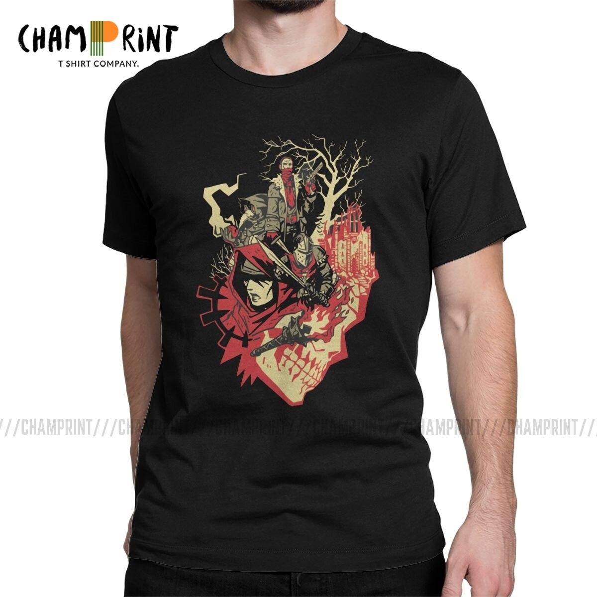 Darkest mazmorra videojuego hombres T camisa humorística Camisetas manga corta Camisetas cuello redondo 100% algodón regalo Idea ropa