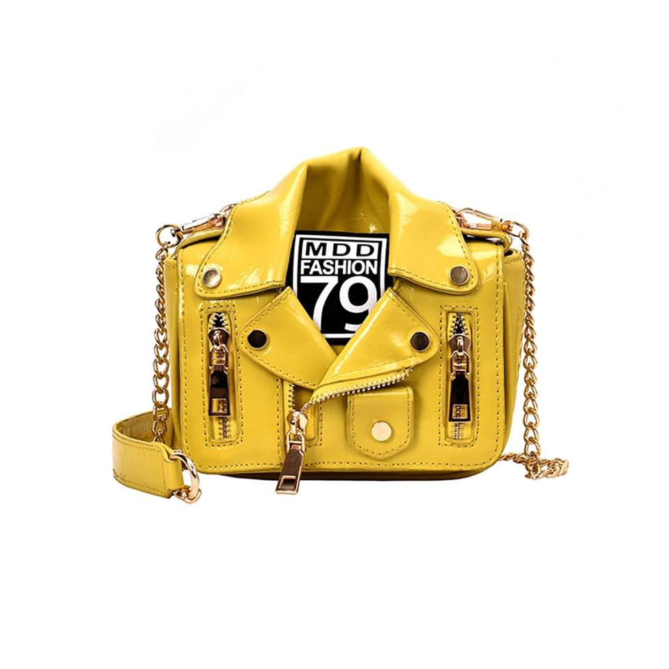 Women Shoulder Messenger Bag Jacket Shape Luxury Handbags Brand Designer Motorcycle Bags Rivet Zipper Fashion Crossbody Bags