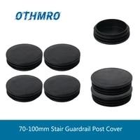 mromax hot stair guardrail post cover plastic diameter 707476606390100mm round plug post end caps tube 124101224pcs