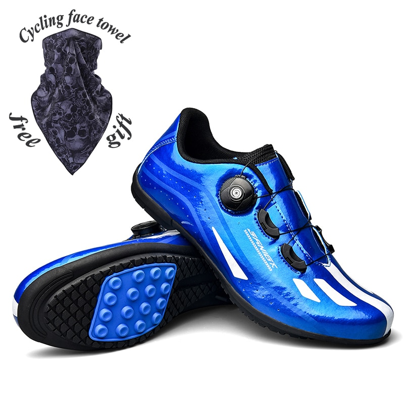 New type road comfortable turnbuckle cycling shoes, mens outdoor sports non-locking rubber sole shoes