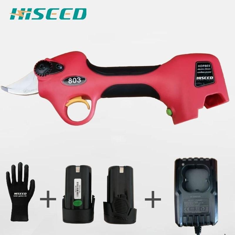 Hiseed-مقص تقليم لاسلكي ، مقص كهربائي يعمل بالبطارية
