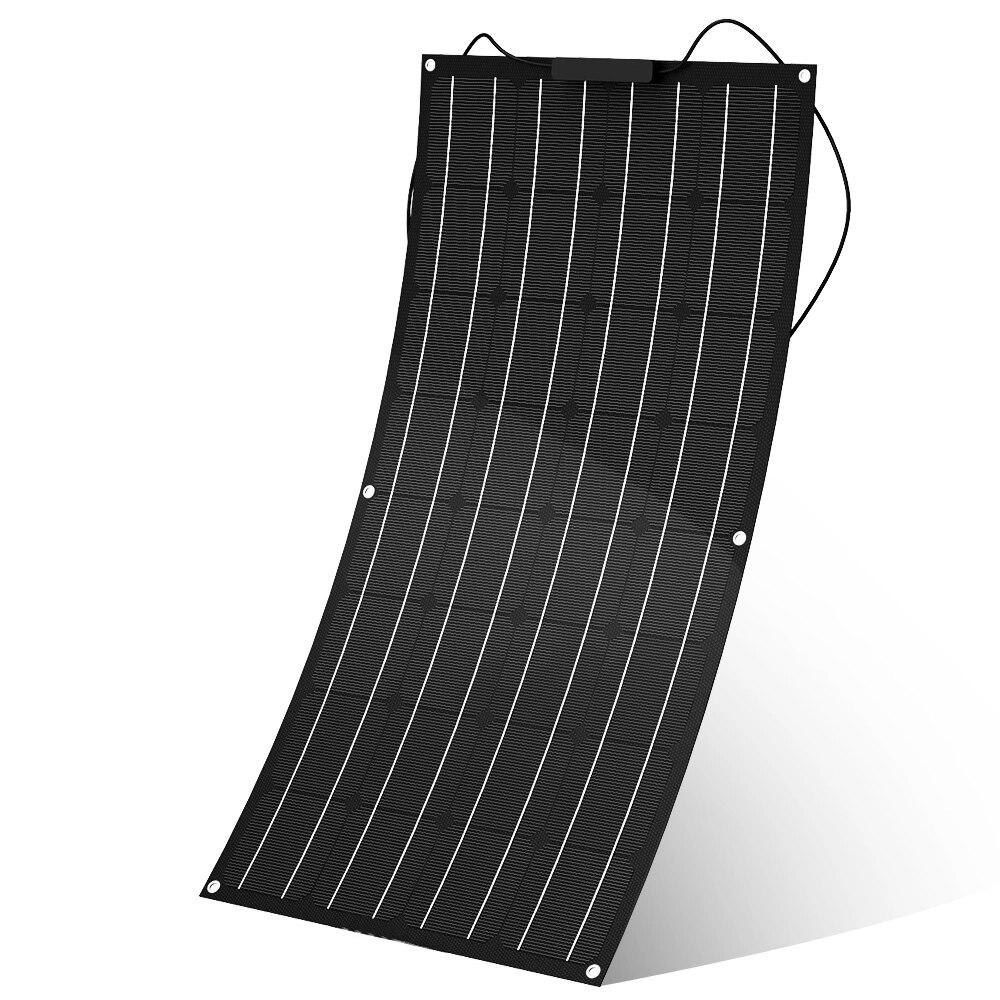 Panel solar flexible etfe portátil, 1 Uds., 2 uds., 12v, 100w, 100w, célula solar plegable, kit de sistema de energía total 200W