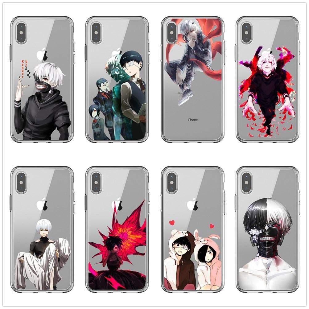 Japanese anime de Tóquio Ghoul TPU Caso Capa mole para Apple iPhone X10 XS Max XR 6 6S 7 8 além de 5 5S SE Casos de Telefone