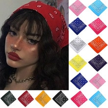 Vintage Bohemian Bandana Hair Bands for Girls Women Kids Fashion Headband Scarf Turban Headwear Wrap