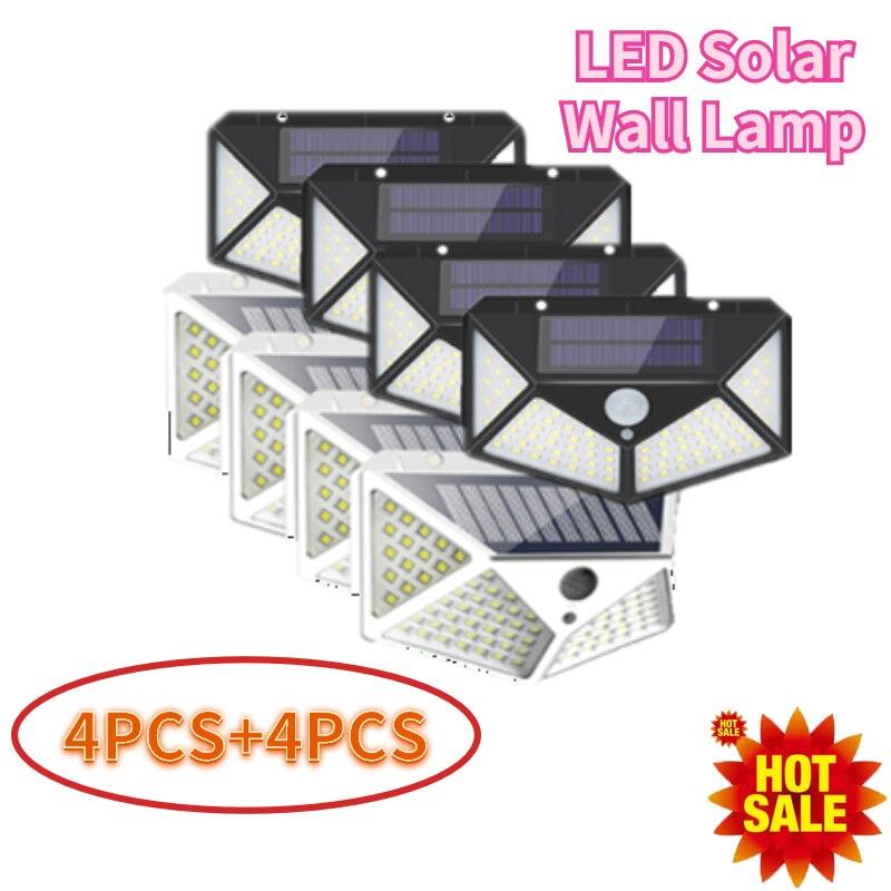 8 pces led solar luz de parede ao ar livre a prova dwaterproof agua jardim luz led