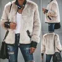 fashion faux fur jackets women winter coats biker teddy bear pocket fleece jacket zip up outwear streetwear women clothes