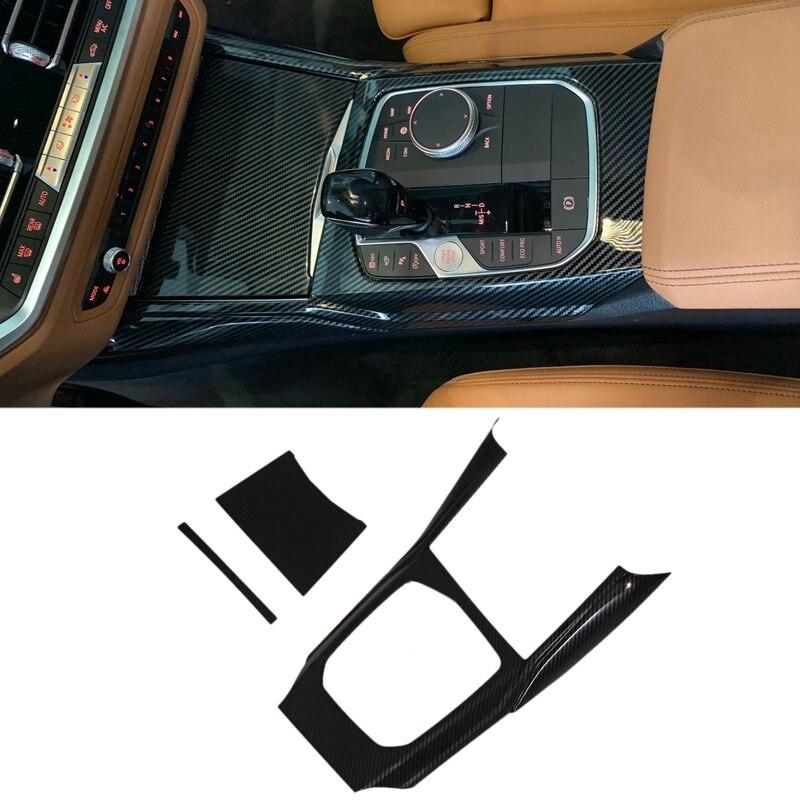 Cubierta de Panel de Cambio de marchas de fibra de carbono ABS para BMW Serie 3 G20 G21 G28 2019 2020