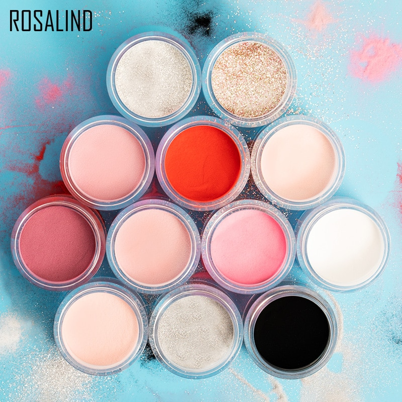ROSALIND Nail Pollen Glitter Acrylic Powder Nail Extension Builder Dipping Powder Nail Art Carving D