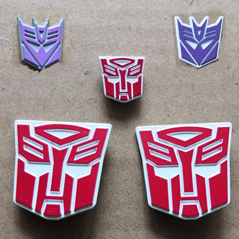 WeiJiang Autobot Decepticons Logo MPP10 MPP27 MPP36 eisen haut Optimus schulter standard metall relief logo Für PVC Action Modell