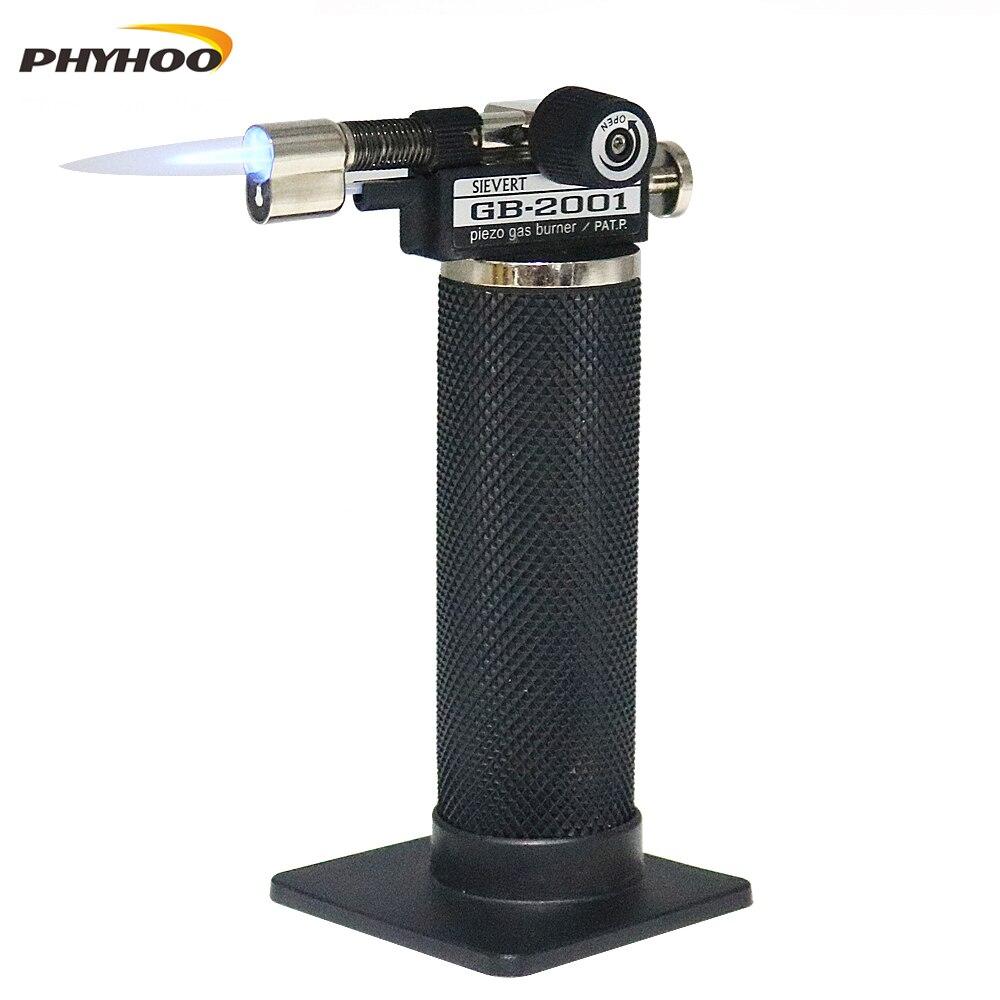Profesional Piezo Micro Gas JetTorch, 1300c Celsius llama soldadura antorchas soplete encendedor de butano soldadura
