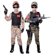 Армейский Камуфляжный костюм для костюмированной вечеринки; Маскировочная тактическая нарядная одежда; Детский костюм на Хэллоуин; Вечерние костюмы в стиле милитари