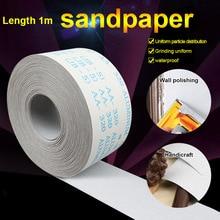 Rouleau de ponçage en carbure de silicium papier de ponçage papier de ponçage en bois outils abrasifs de polissage papier de verre