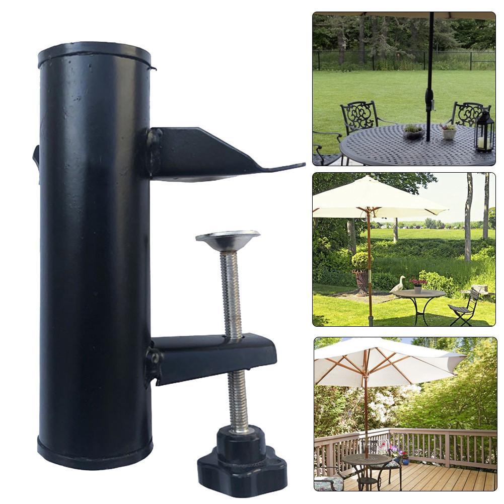 Quintal guarda-chuva fixo clipe de suporte varanda guarda-chuva suporte mesa ao ar livre fixo guarda-chuva suporte para pátio suprimentos acampamento