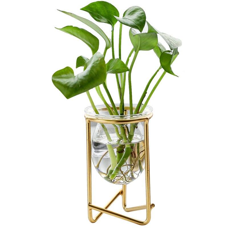 Venta al por mayor, hidropónico transparente, soporte para plantas, florero, decoración de escritorio, macetas, decoración del hogar, artesanías, regalo de jardín de hadas