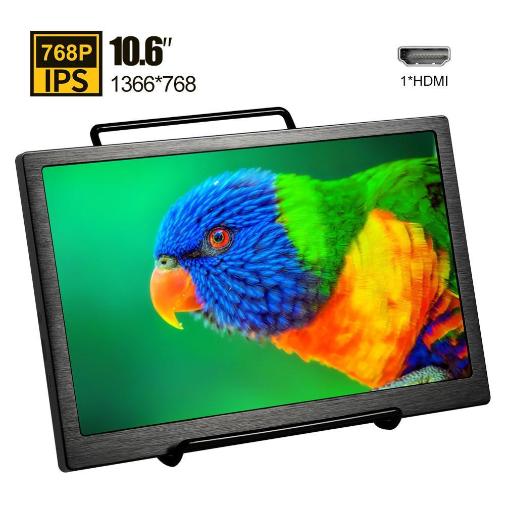 10.6 بوصة صغيرة محمولة رصد HDMI شاشة الكريستال السائل HDMI شاشة ل PS4 Xbox سلسلة X الكمبيوتر المحمول المحمول Comuputer IPS شاشات
