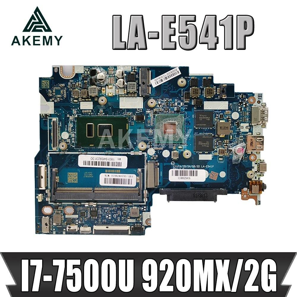اللوحة الأم للكمبيوتر المحمول AKemy LA-E541P لأجهزة Lenovo 320S-15IKB FLEX5-1570 اللوحة الرئيسية الأصلية I7-7500U 920MX / 2G 5B20N78631