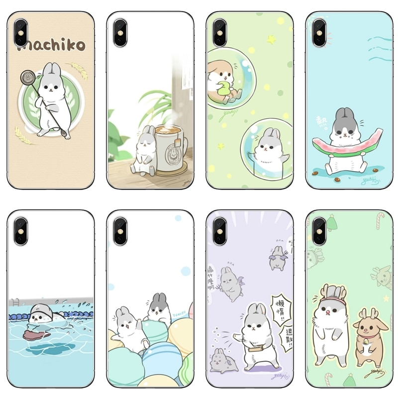 Funda de conejo Machiko bonita para Xiaomi Redmi Note 7 6 6A 5A 4 4A 3 pro S2 5 plus 4x Pocophone F1