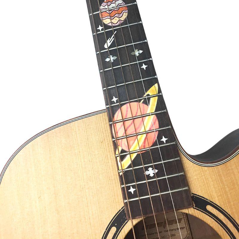 Alta Qualidade DIY Faísca Guitarra Fingerboard Inlay Etiqueta Decalques para Acústico Da Guitarra Elétrica Ukulele Log in to Mars Y51D
