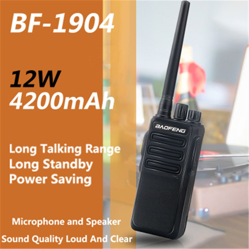 Baofeng Walkie Talkie BF-1904 12W UHF 2way Ham Radio Dual Band Mobile Radios Handheld BF1904 hf Transceiver Long Distance 2020