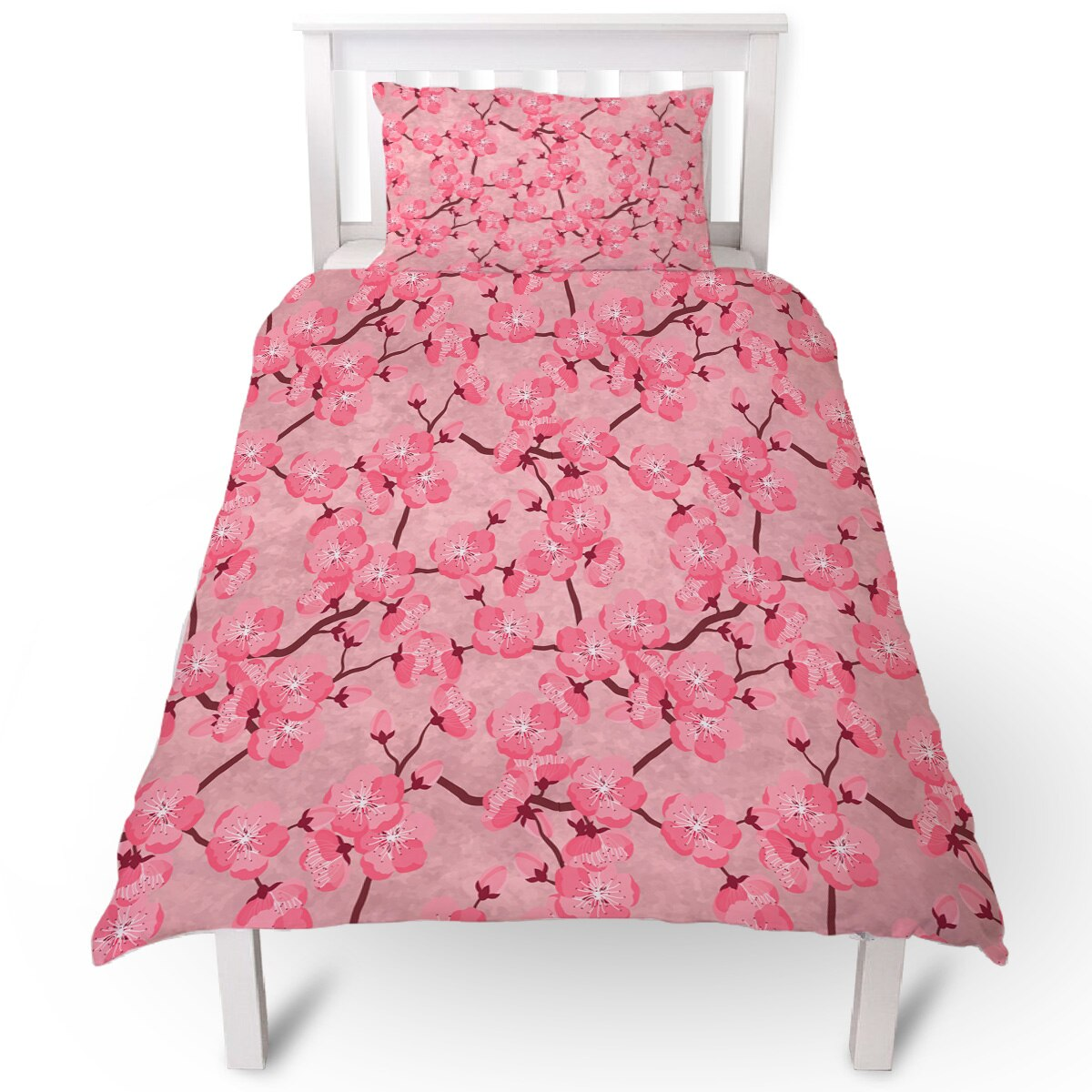 Flower Japan Cherry Blossoms Duvet Cover Pillow Case Quilt Cover Set Bedclothes Single Bedding Sets For Bed