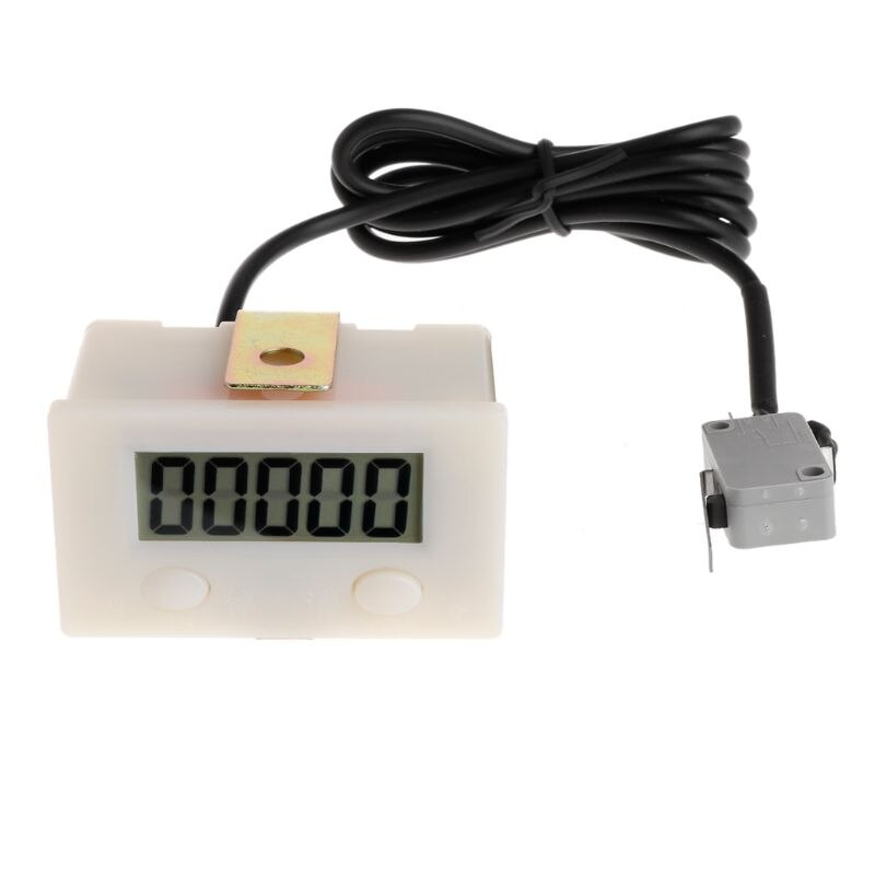 Digital 5 Digit LCD Punch Counter with Reset Pause Button Micro Switch