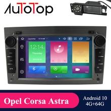 Автомагнитола AUTOTOP 2 din с GPS, Android 10,0 Mulimedi для Astra H G J Antara Vectra Corsa Zafira Vivaro Meriva Veda DSP Carplay