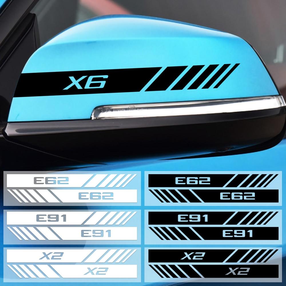 Voiture Dénommant 2 PIÈCES Latérales Réfléchissantes Vue Arrière Miroir Autocollant Pour BMW E53 E60 E61 E62 E70 E87 E90 X1 X3 X4 X5 X6 X7 décoration Accessoire