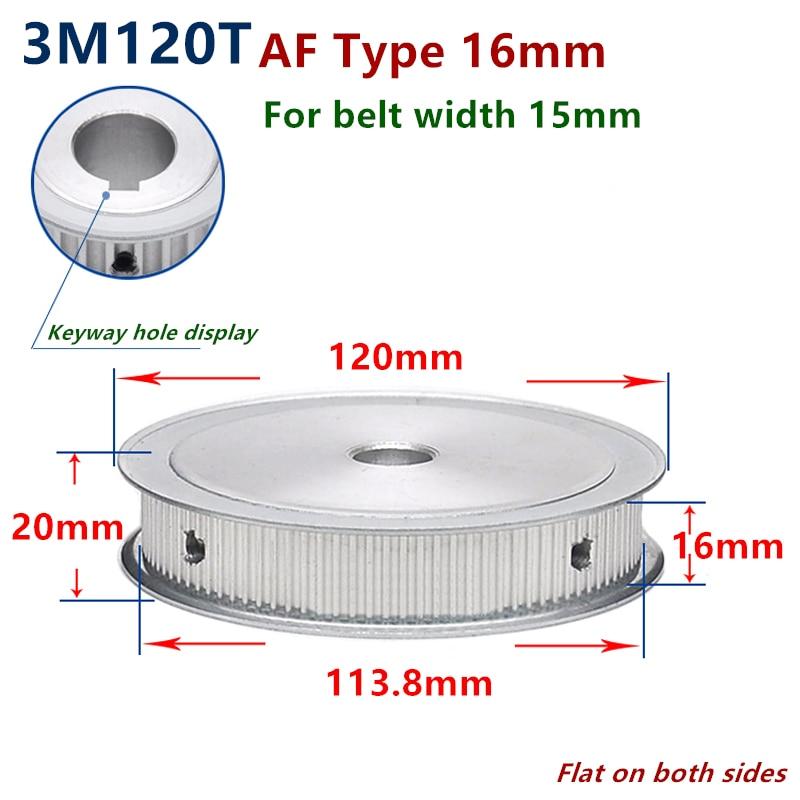 بكرة توقيت HTD Arc 120 ، قطر 3 م 8-25 مللي متر ، عرض 15 مللي متر ، 3 م ، حزام متزامن ، بكرة HTD3M ، عجلة تروس 120 T 120 سنًا