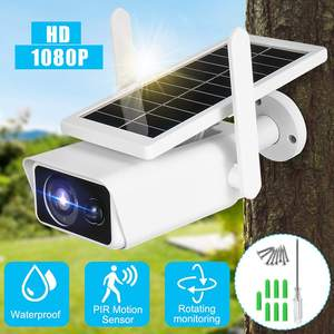 1080P IP Camera Outdoor Solar Power Security Camera Intelligent PIR Sensing IR Night Vision Security Surveillance Camera