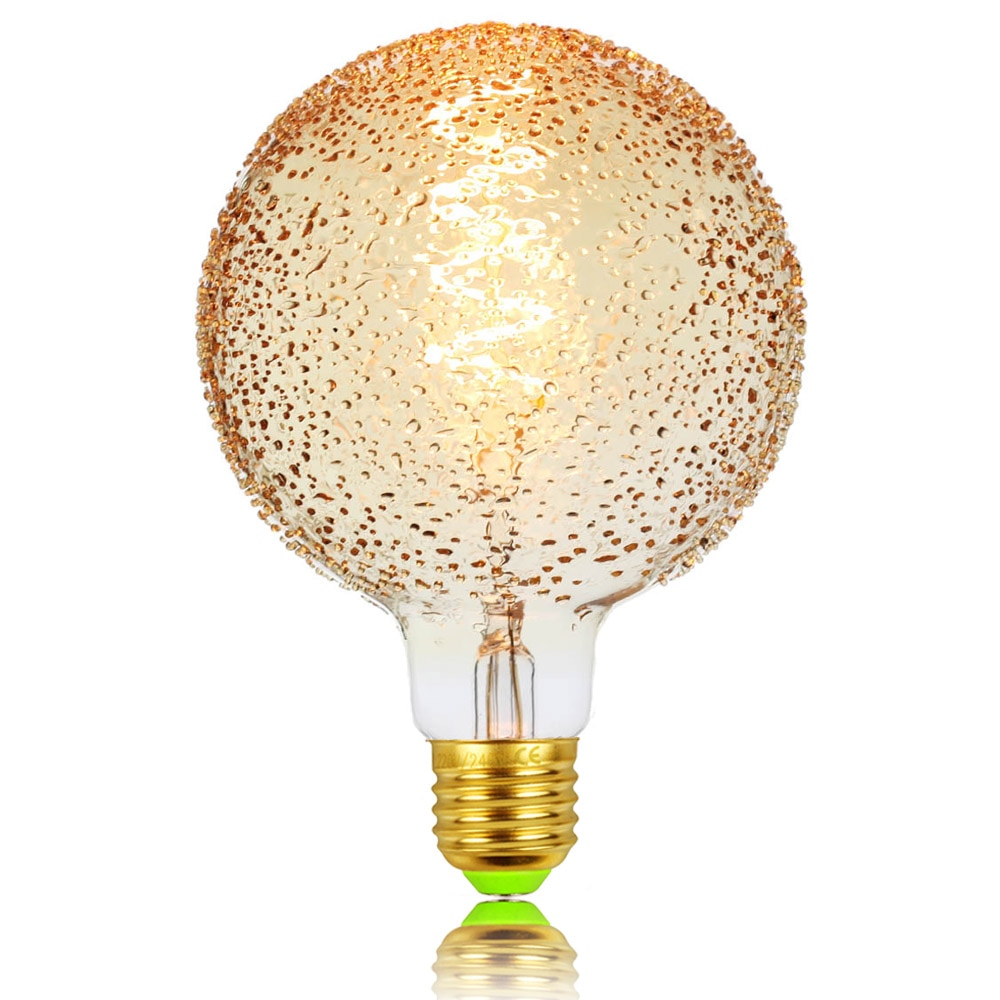TIANFAN Led Bulbs Vintage Light Bulb G125 Bubble Edison Bulb 4W Dimmable Spiral Filament Amber 220V Decorative Light Bulb