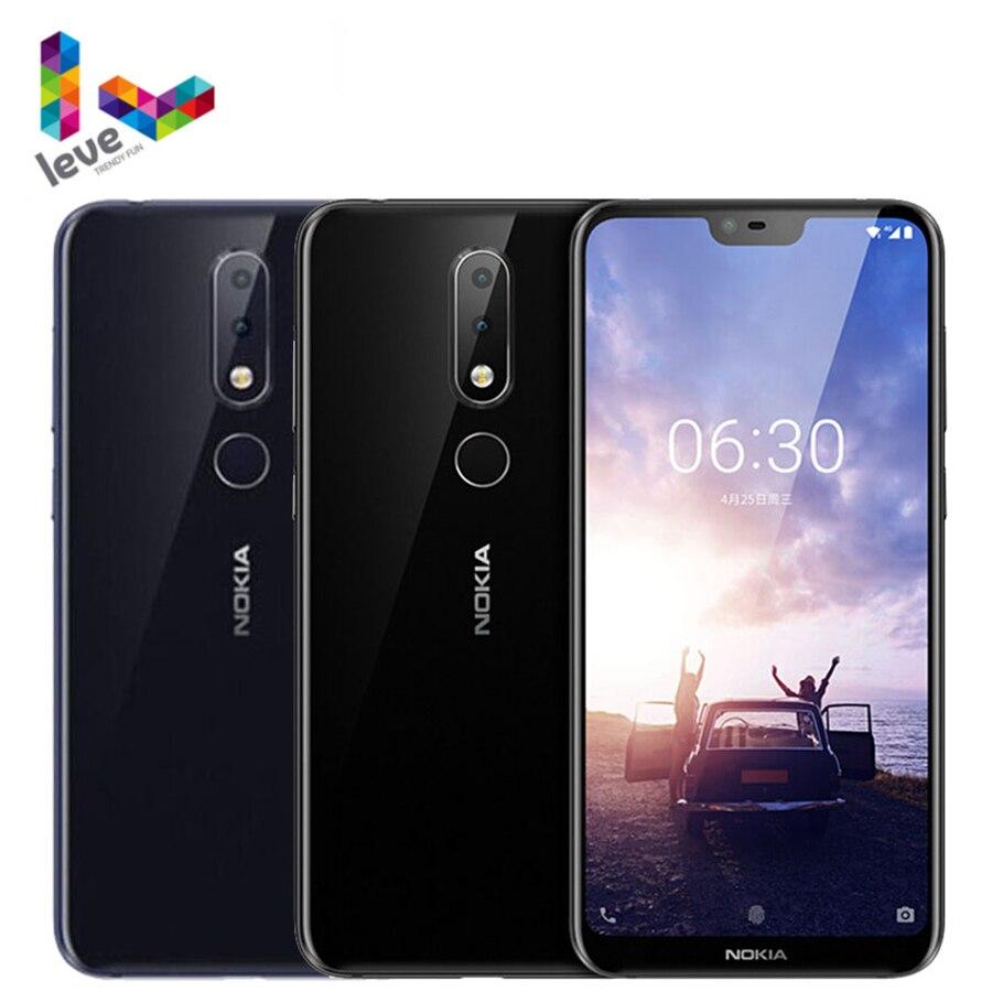 Перейти на Алиэкспресс и купить Мобильный телефон Nokia 6,1 Plus, Android 4G, 5,8-дюймовый экран FHD +, 4 Гб + 64 ГБ, Snapdragon 636 восемь ядер, разблокированный смартфон Nokia X6, сканер отпечатка паль...