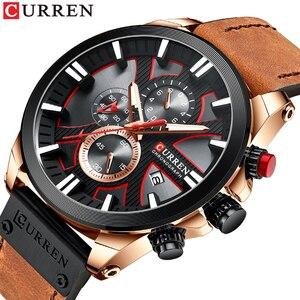 CURREN 2020 New Brand Watch Casual Fashion Men Quartz Sport Watch Mens Leather watch Male Watch Waterproof Relogio Masculino