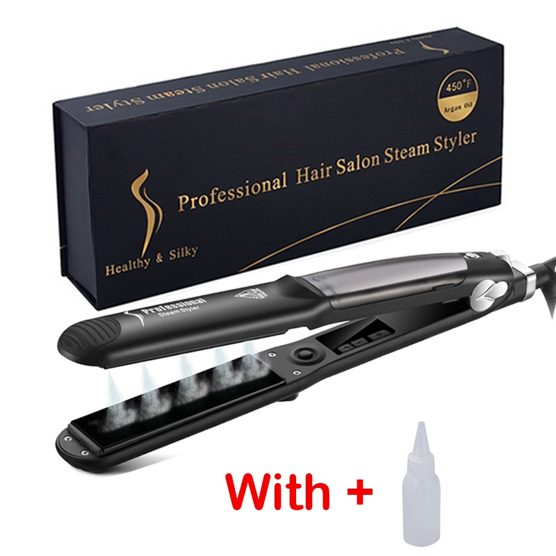 Steam Hair Straightener Flat Iron Ceramic Professional Hair Straightener Steam Hair Iron Drop Shipping Hair Styling Tools