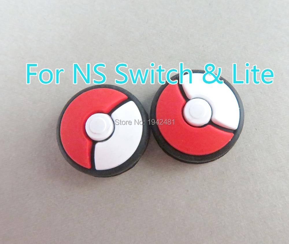 200pcs joystick capa polegar vara aperto boné para nintend switch ns lite joy-con controlador pokemon joycon gamepad thumbstick caso