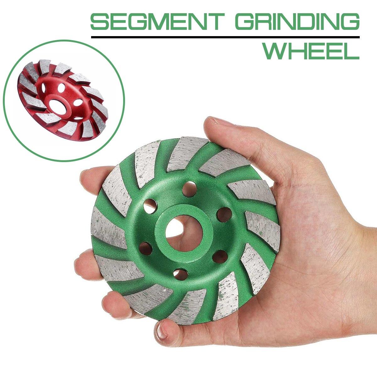 100mm/4 Polegada diamante roda de moagem disco forma tigela copo pedra concreto granito ferramentas cerâmica ângulo moedor acessórios